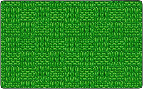 Childcraft Basketweaves Carpet, 8 x 12 Feet, Rectangle, - Rug Green Basketweave