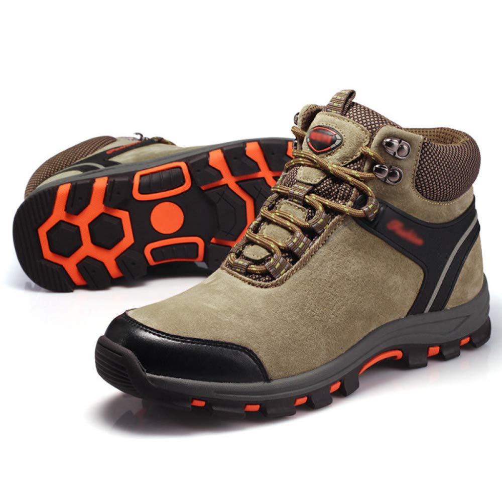 DZX Herren Winter Outdoor Wandern Schneeschuhe Wasserdichte Walking Trekkingschuhe Walking Wasserdichte Lace Up Rutschfeste Atmungsaktive Schuhe,Khaki-40 f8589f