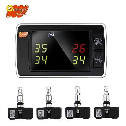 Amazon Com Orange Wireless Tire Pressure Monitoring System Bar Psi