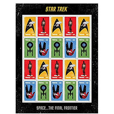 20 Star Trek USPS Forever First Class Postage Stamps Enterprise classic TV