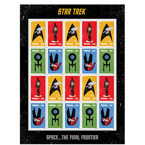 Star Trek Enterprise classic TV Sheet of 20 Forever Postage Stamps Scott 5132-35 By USPS (35 Usp)