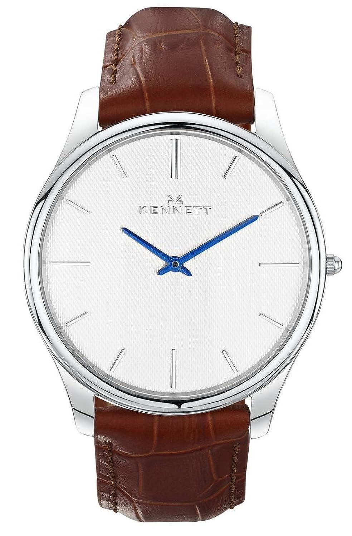 Herren Kennett (Kensington Silber Weiß Hellbraun Armbanduhr ksilwhlgtbrn
