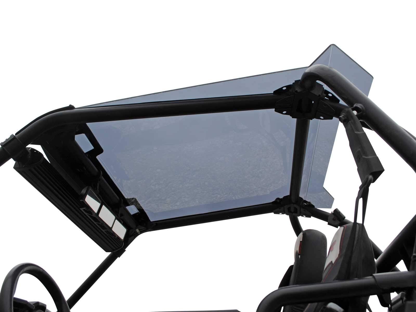 SuperATV Dark Tinted Roof With Spoiler for Polaris RZR 900 (2015+) - Easy to Install!