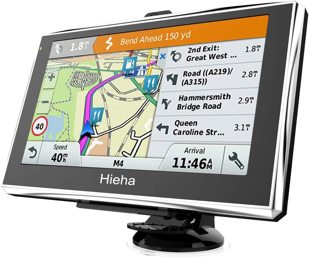 Hieha Auto Navigation 7 Zoll Sprachführung Navigationsgerät Touchscreen Gps Navi 8gb 256m Navigationssystem Für Lkw Pkw Kostenloses Kartenupdate Blitzerwarnungen Poi Fahrspurassistent Eu Map Karten Navigation