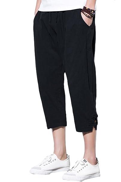 Amazon.com: Sandbank - Pantalones de yoga para hombre con ...