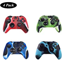 4 Pack of Silicone Xbox one Controller Skin, Premium Super Grip Protective Skin Case Cover for Xbox one Controller