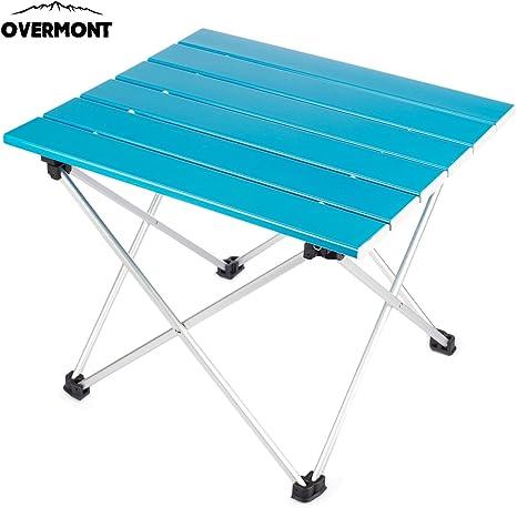 Overmont Mesa Tabla Plegable Portable de Aluminio Ultraligero para ...
