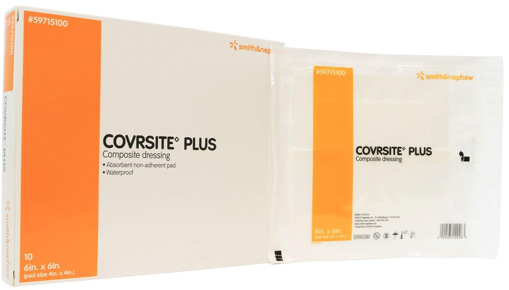 Covrsite Plus Waterproof Composite Dressing 6'' x 6'' - Box of 10
