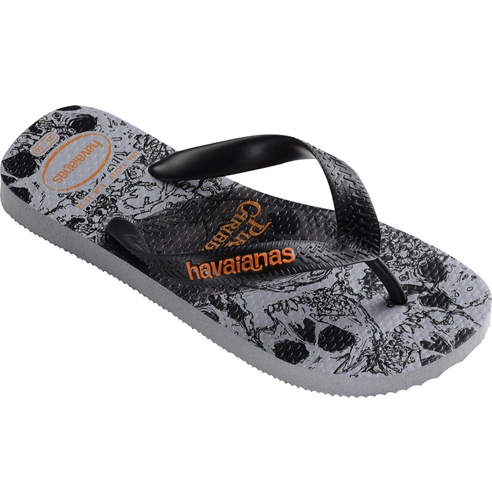 Havaianas Kids Flip Flop Sandals, Disney, Pirates of the Caribbean, Ice Grey,25/26 BR (10 M US Toddler)