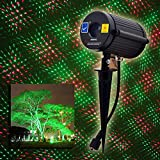 Outdoor Waterproof Laser Garden Tree Lawn Spot Light Projector Twinkling Christmas Shooting Stars Red and Green