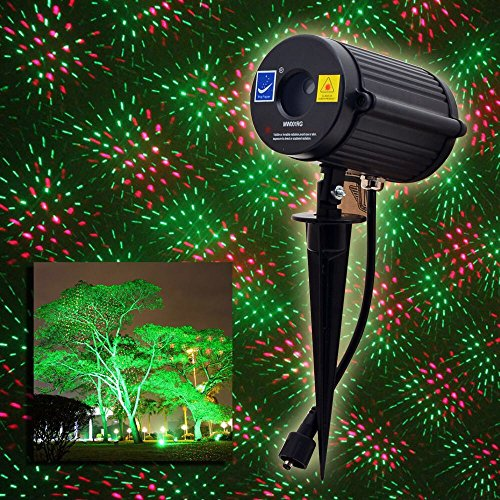 (Outdoor Waterproof Laser Garden Tree Lawn Spot Light Projector Twinkling Christmas Shooting Stars Red and Green)