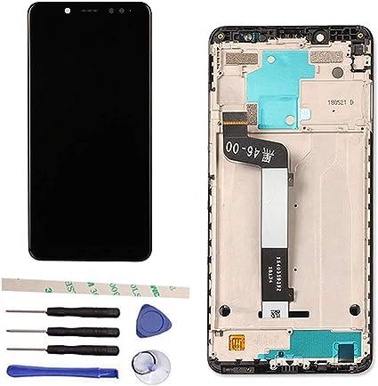 Draxlgon Pantalla LCD Pantalla táctil Digitalizador Asamblea con Marco para Xiaomi Redmi Note 5 / Pro 5.99
