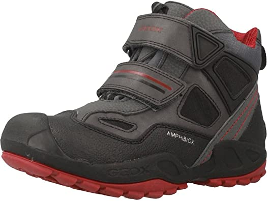 Geox J641WC0FU54C0043 - Zapatillas altas para niños, color Gris (Grey/BlackC0043), talla 31 EU: Amazon.es: Zapatos y complementos