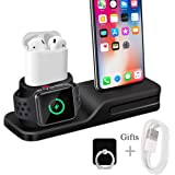 Wonsidary Stand for iPhone Airpods iWatch Supporto di Ricarica Dock Station per Airpods Supporto Dock Ricarica Holder, Compatibile per iPhone, Apple Watch Series 4 3 2 1 AirPods iPhone iPad Mini