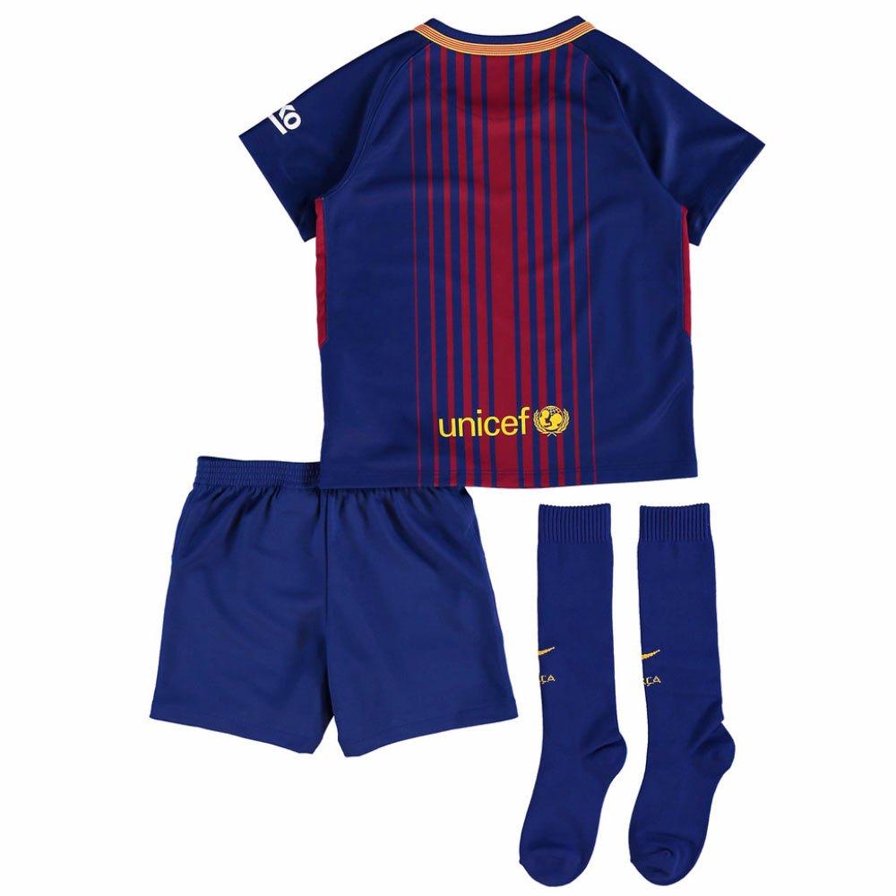 UKSoccershop 2017-18 Barcelona Home Mini Kit (Lionel Messi 10 ...