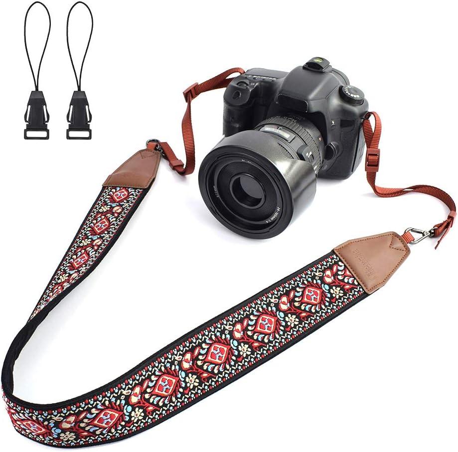 Color : Color 5 Camera Belt Accessory Multi-Color Camera Shoulder Strap Neck Belt Durable Camera Straps Retro Ethnic Style for DSLR Camera Durable