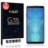 J&D Compatible for Samsung Galaxy A9 2018 Glass Screen Protector (3-Pack), Not Full Coverage, Tempered Glass HD Clear Ballist