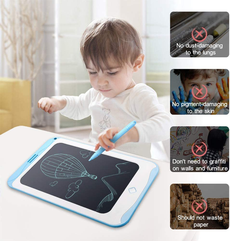 Gifts for Kids Smart Sketchbook Electronic Doodle Board for Home 10 inch Kids Writing Tablet Drawing Tablet School Travel and Outdoor Blue 3, 5 Year Old Boys, Girls and Older