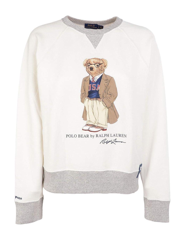 Polo Ralph Lauren Felpa Donna Mod. 211-752372 Bianco XS: Amazon.es ...