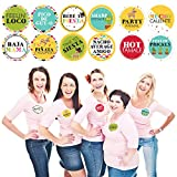 Big Dot of Happiness Let's Fiesta - Mexican Fiesta Name Tags - Party Badges Sticker Set of 12