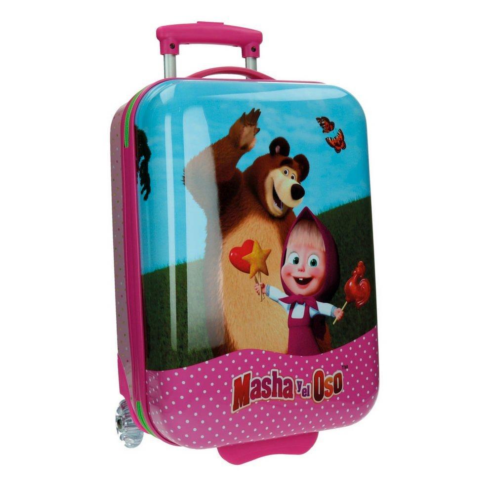 Masha Kabinenkoffer und Der Bär Kindergepäck, 34 Liter, Rosa