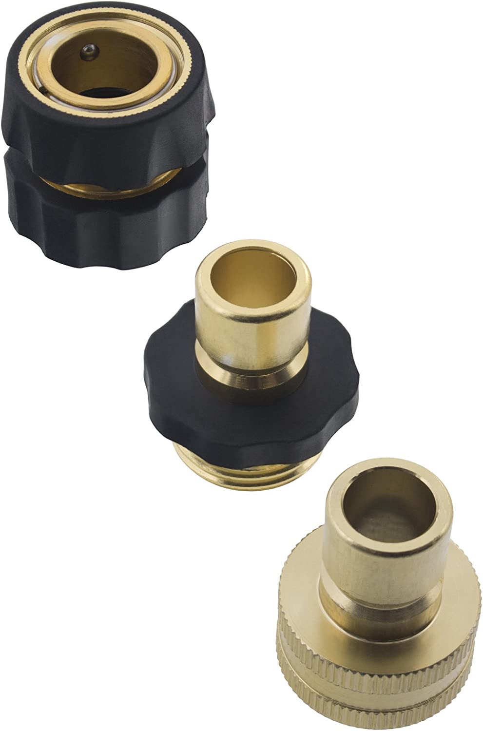 Erie Tools Garden Hose Pressure Washer Quick Connector Kit with Male Female Connections and Nylon Grip
