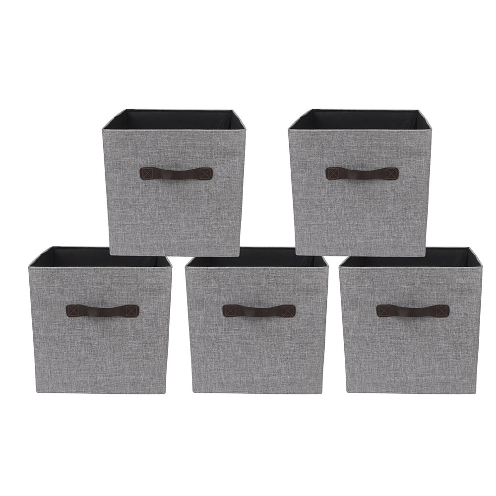 GIA FS08-Lgr Boxes, Storage Cube, Light Gray