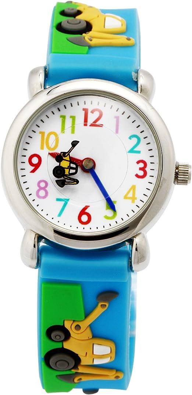 Image ofReloj para Niños de Vinmori, Reloj de Cuarzo con Dibujos Animados Bonitos en 3D Resistente al Agua. Regalo para Chicos, Niños y Niñas