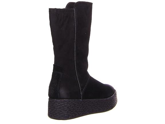 Tamaris Damen halbhohe Stiefel 26451 Touch-IT Platform-sohle leicht  gefüttert schwarz Leder: Amazon.de: Schuhe & Handtaschen
