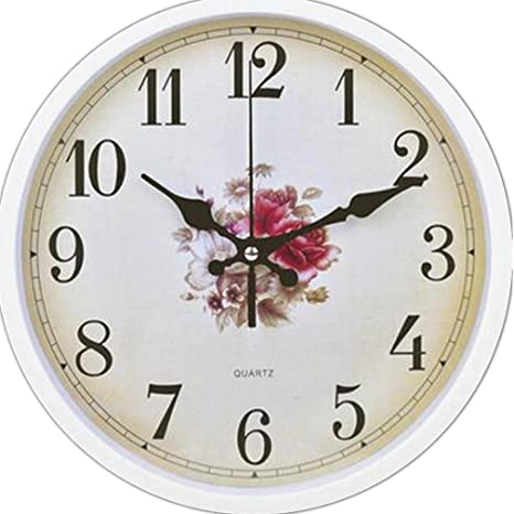 PLYY Moderno Reloj de Pared de Cuarzo sin Hacer tictac Silent Sweeping Seconds Decoración Decorativa de