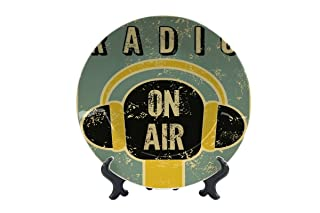 Piatti Retro Radio in onda Ceramica Stampato