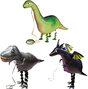 3PCS Walking Animal Balloons for Dinosaur Theme Birthday Party Decor Supplies Kids Party Favors