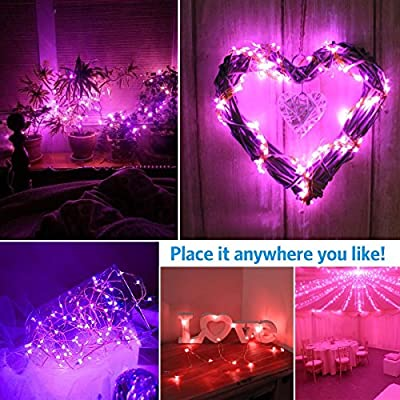 LED String Lights 16 Colors Upgraded Version 50 LEDs Fairy Lights Battery Powered - 16 ft Copper Wire Firefly Lights for Bedroom, Patio, Garden, Christmas Tree Decorative Lights