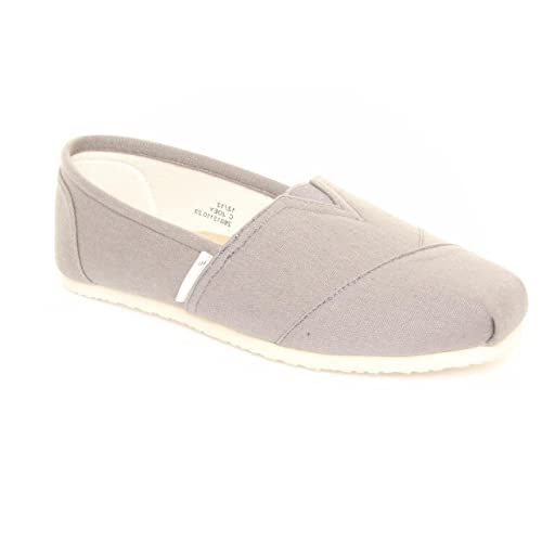 Red Level - Mocasines de tela para mujer gris gris, color gris, talla 35: Amazon.es: Zapatos y complementos