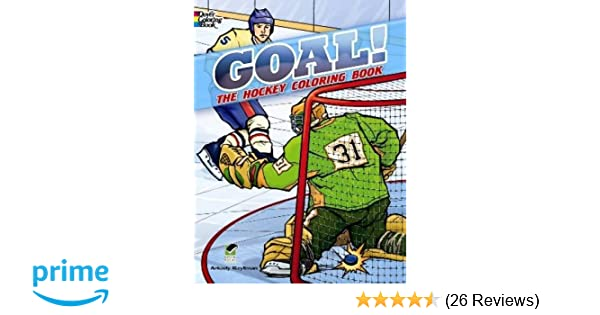 goal the hockey coloring book dover coloring books arkady