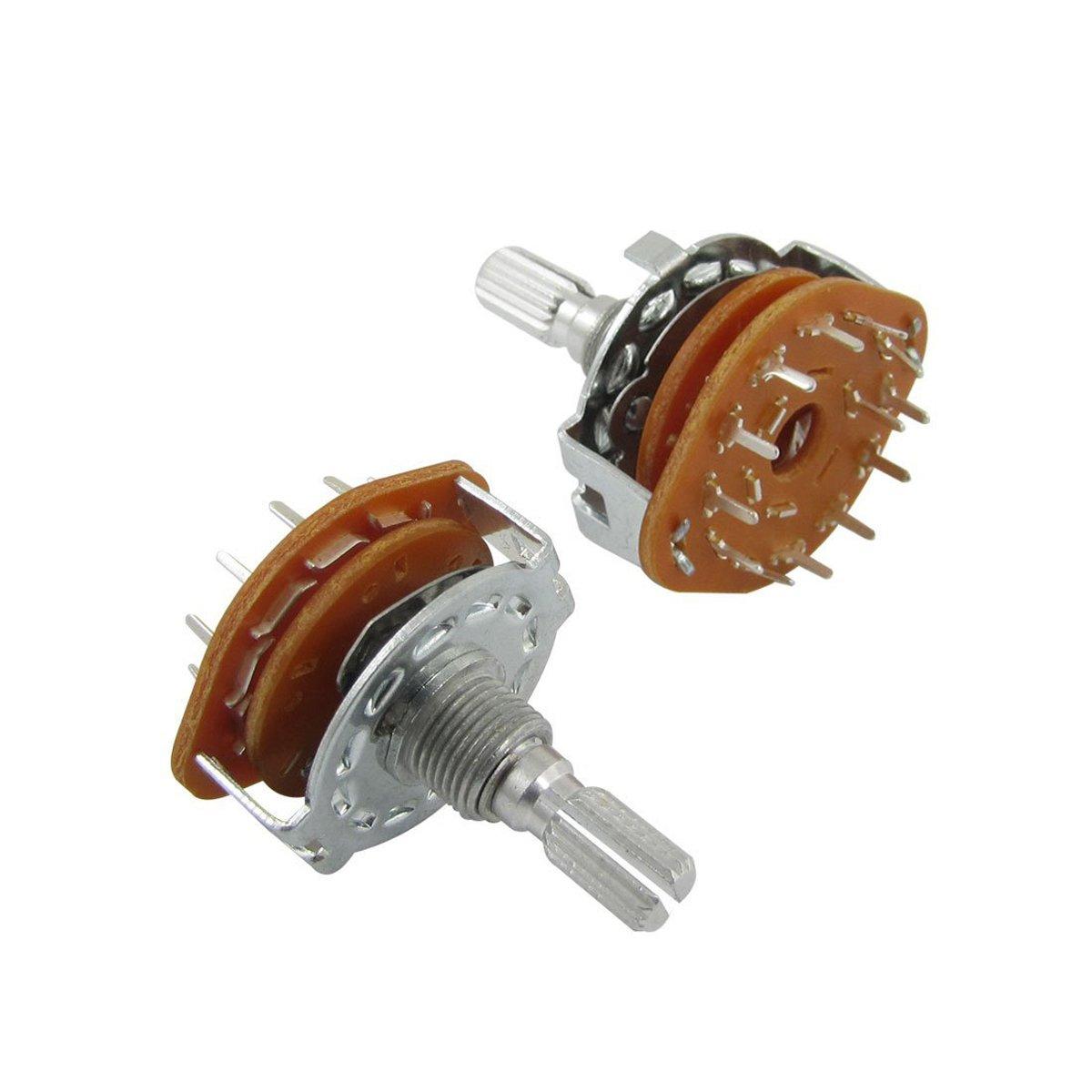 分割シャフトAC 125 V 0.3 A 250 V 0.6 A 1ポール12位置ロータリースイッチ(バッグの2 )   B01EWZV4E4