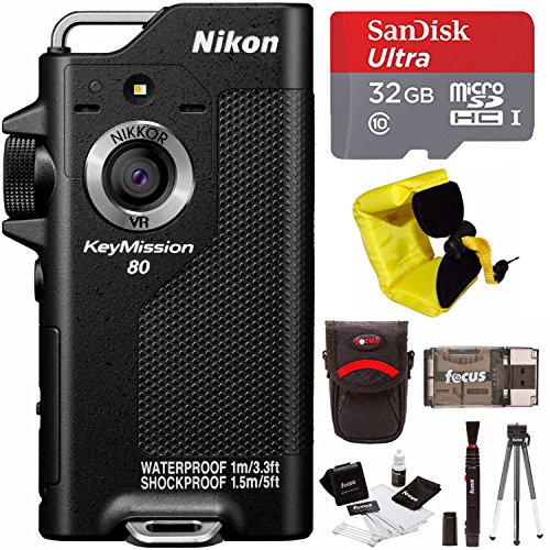 Nikon KeyMission 80 Action Waterproof Camera with 32GB Card