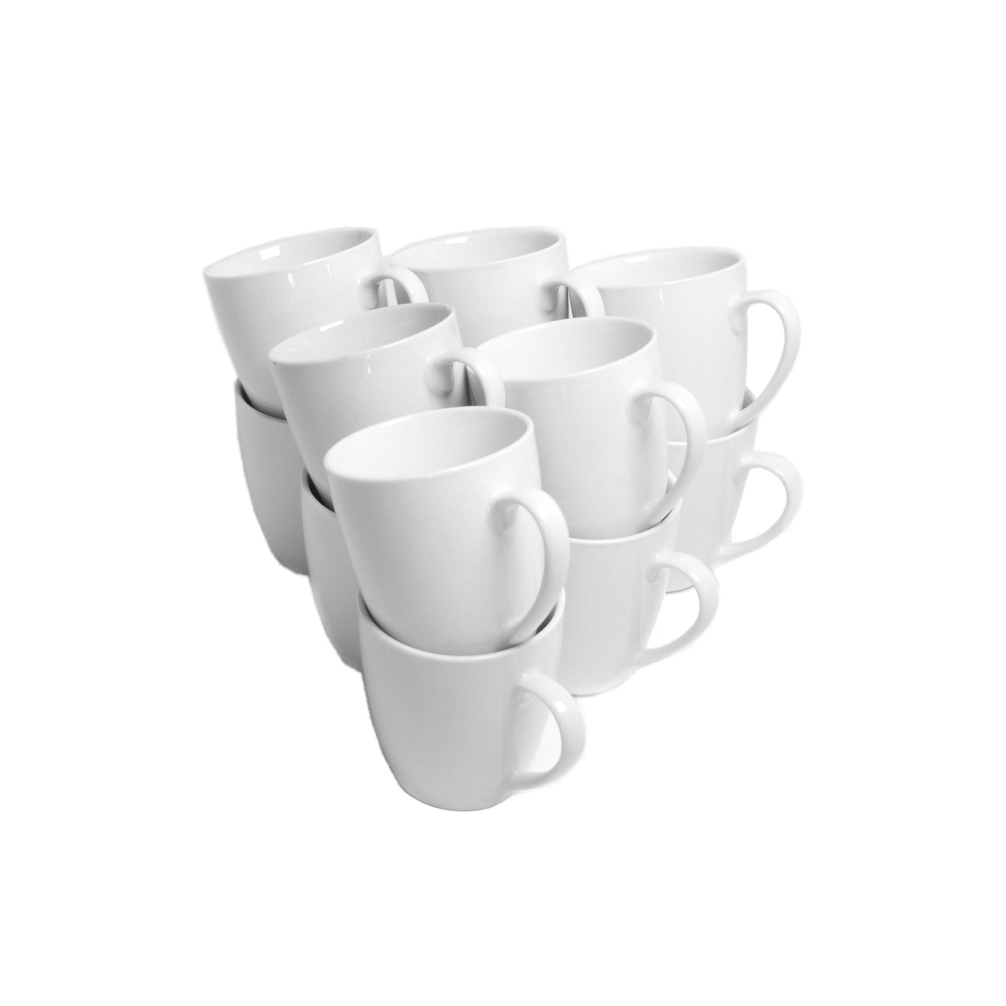 10 Strawberry Street CATERING-12-MUG-W Catering Mug Set, White by 10 Strawberry Street
