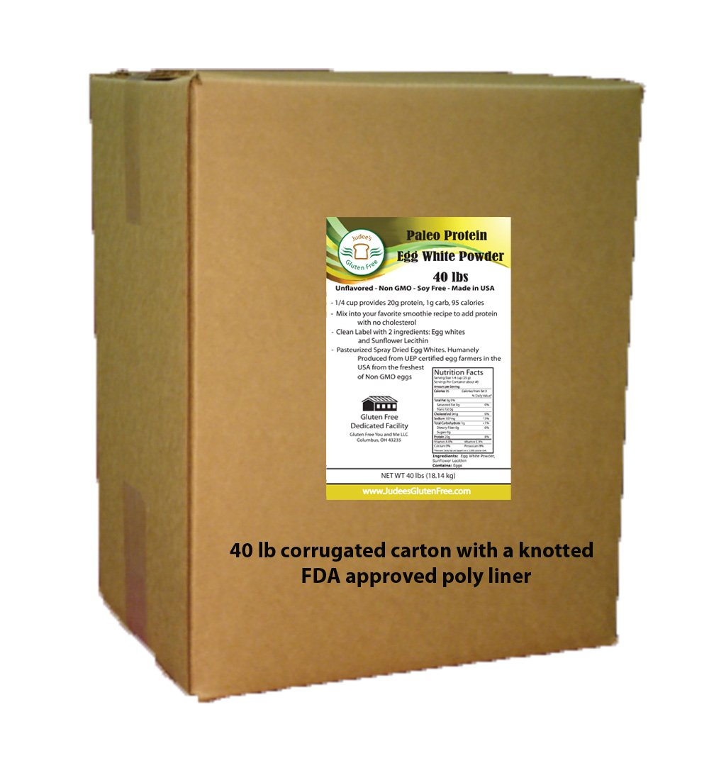 44 LBS BULK Paleo Egg White Protein Powder (Non-GMO,Soy Free), Made in USA, Produced from the Freshest of Eggs