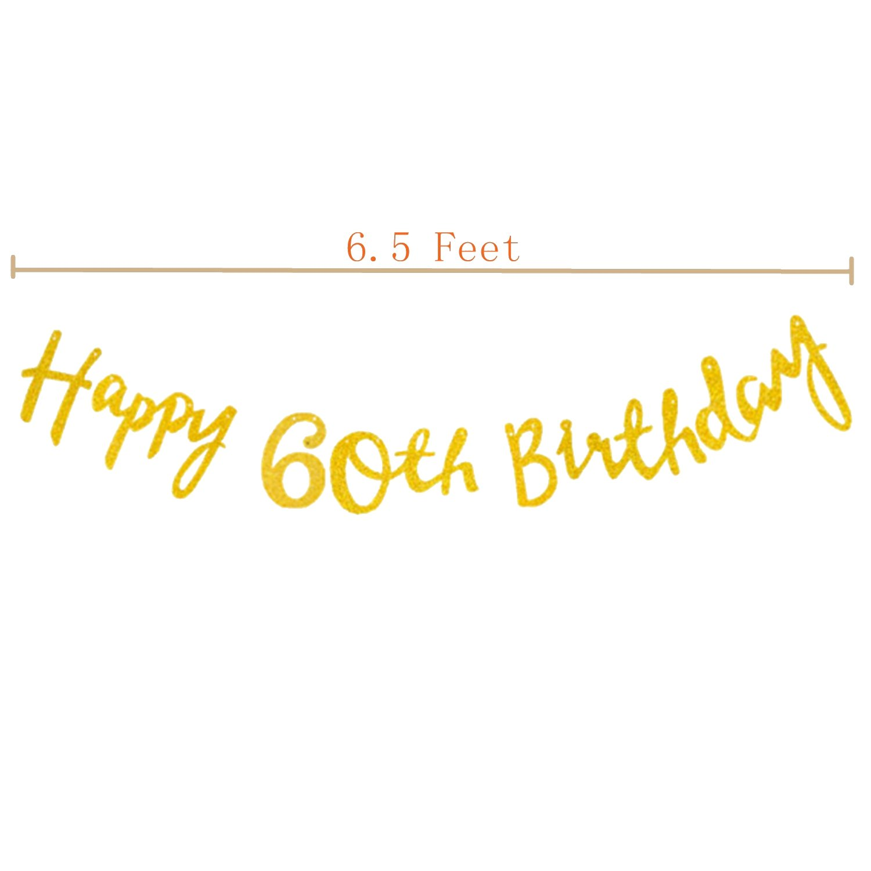 60 Beautiful Elecrainbow Happy Birthday Banner Versatile Party Decorations