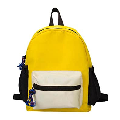 Child Baby Boys Girls Kids Small Toddler Patchwork Contrast Color Backpack  Toddler School Bag Stylish simplicity 2140ffba4386f