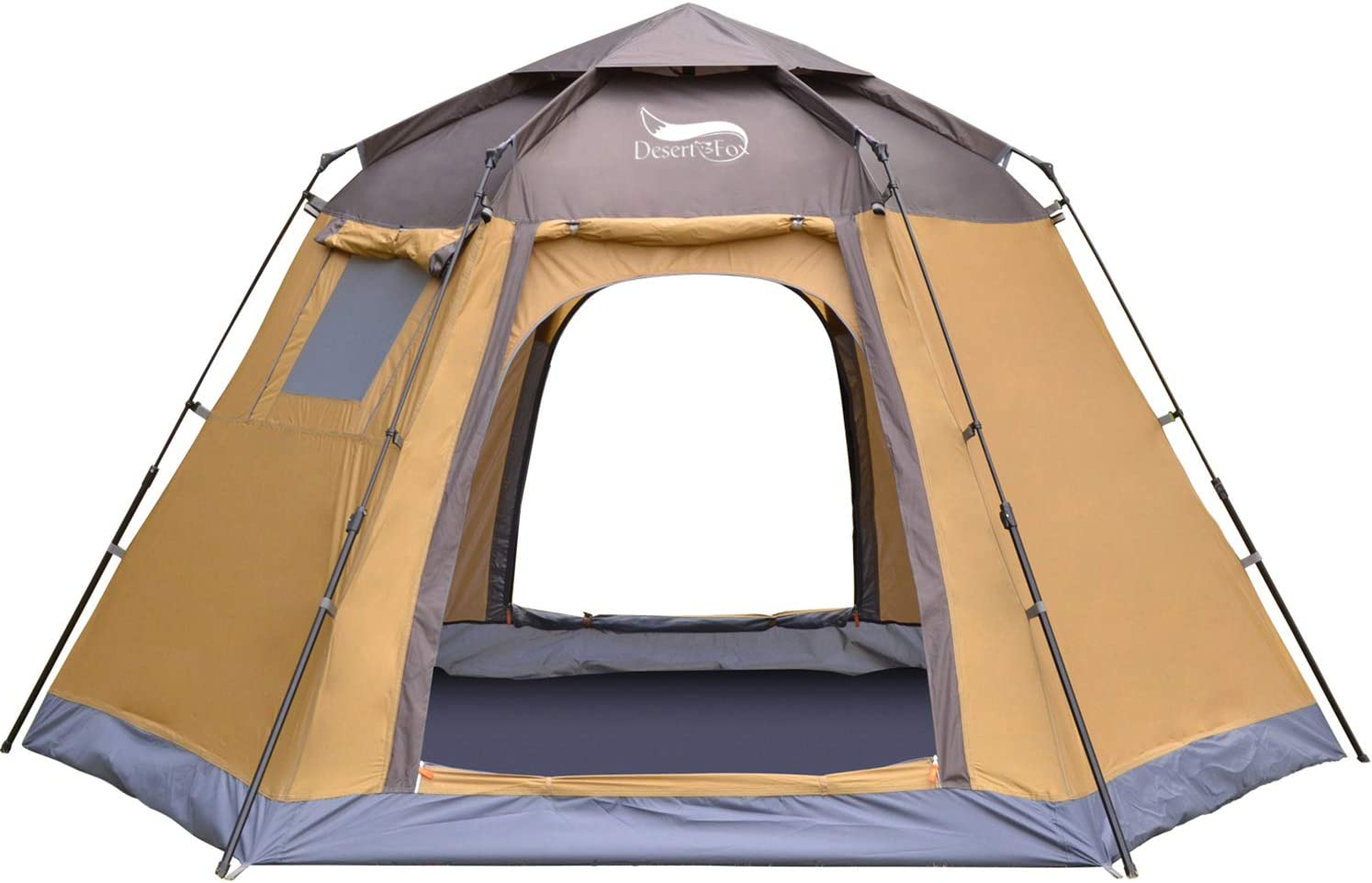 DESERT FOX Automatic Pop-up Tent, 4-5 Person Outdoor Instant Setup 4 Season Portable Backpacking Tent with Carry Bag for Hinking, Camping, Traveling
