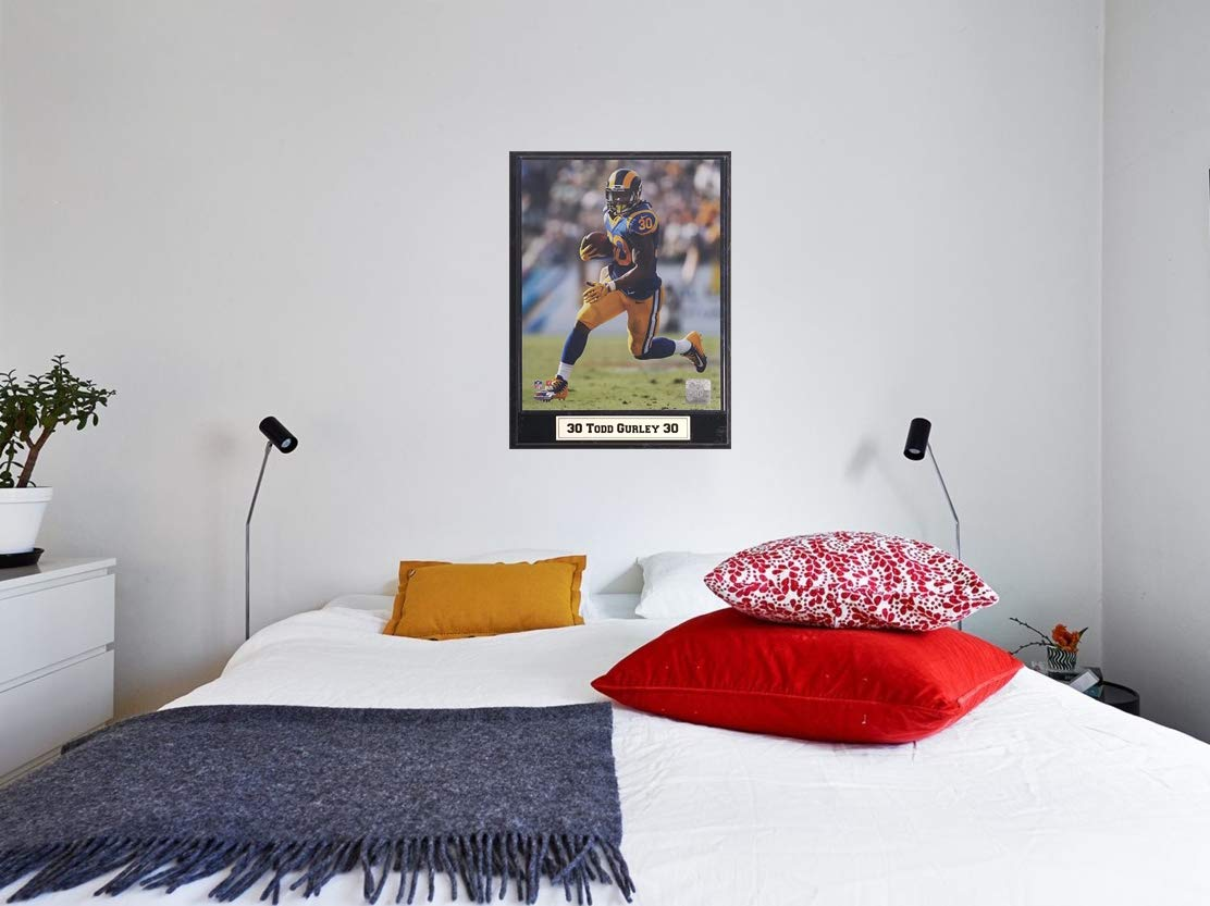 Encore NFL LA Rams 9x12 Plaque Featuring Running Back Todd Gurley in Action