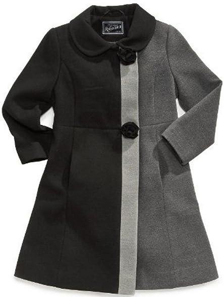 Amazon.com: Rothschild Little Girls Wool Dress Coat with Rosette ...