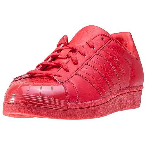 brand new e537f 8b0c7 adidas Superstar Glossy Toe, Zapatos de Baloncesto para Mujer, Rojo  Rayred Cblack, 44 EU  adidas  Amazon.es  Zapatos y complementos