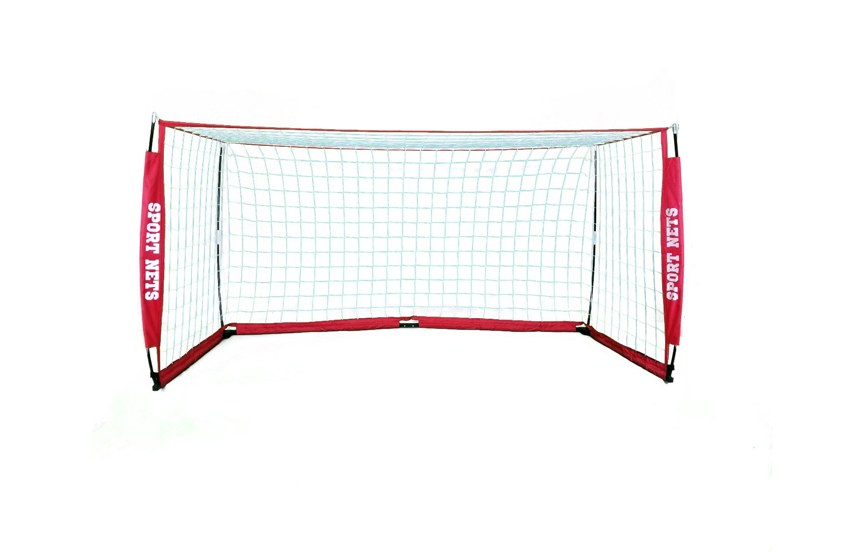 Sport Nets Portable Soccer Goal - Portable Bow Frame Soccer Net with Carry Bag - 8 x 4 by Sport Nets