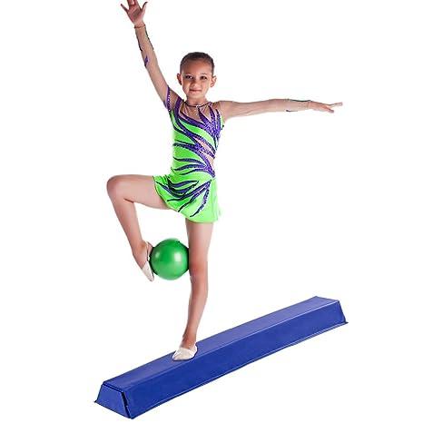 Giantex 4 Ft Floor Balance Beam Gymnastics Equipment for Beginners    Professional Gymnasts Skill Performance Training 1c8d5efbd