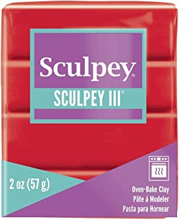 product image for Polyform Sculpey III Polymer Clay, 2-Ounce, Red Hot Red (S302-583)