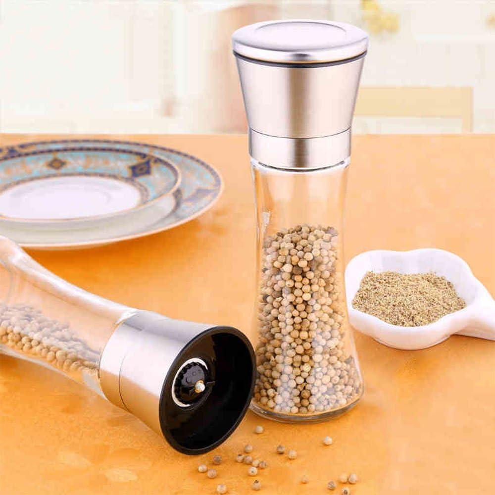1pc Macinacepe in acciaio inox superficie pepe shaker vetro sale pepe smerigliatrice strumenti da cucina