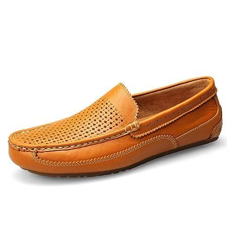 YaXuan Zapatos de Hombre Cuero Primavera/Otoño Mocasines y Slip-Ons Zapatos para Caminar
